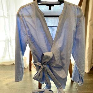 J Crew Wrap Shirt